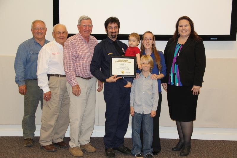 Chad Ficcadenti receives EMT-B certificate