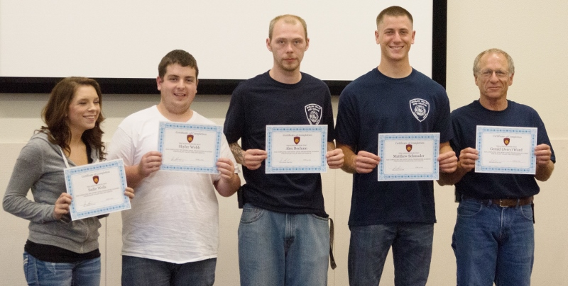 Five new recruits receive certificates