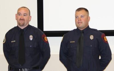 Marler and Larson receive EMT-1 Certification