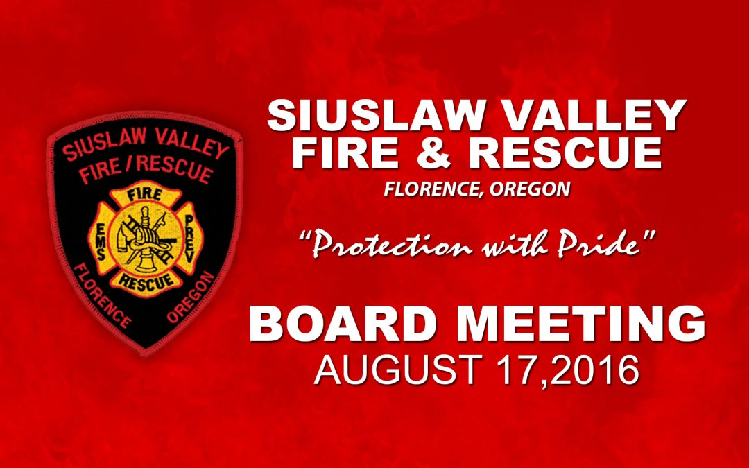 Board Meeting – Aug 17, 2016