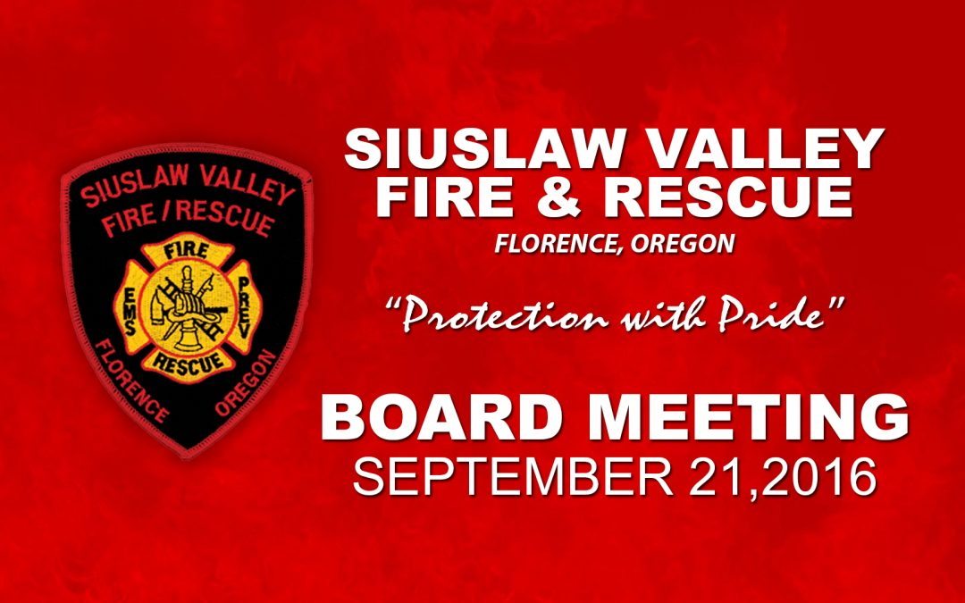 Board Meeting – Sep 21, 2016