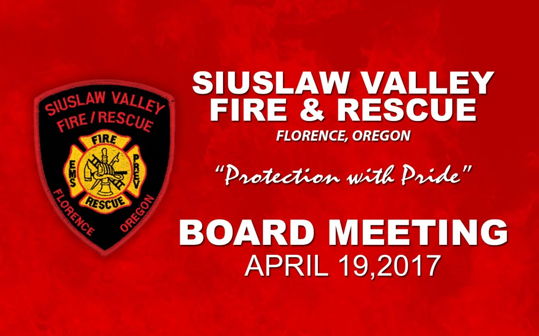 Board Meeting – Apr 19, 2017