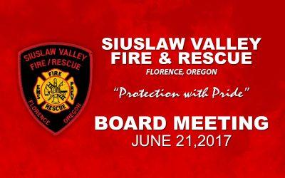 Board Meeting – June 21, 2017