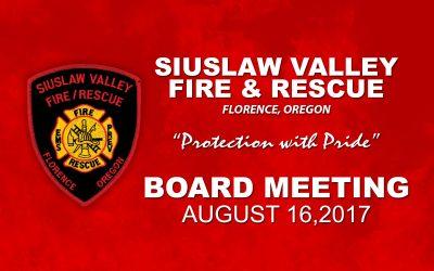 Board Meeting – August 16, 2017