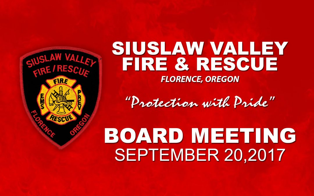 Board Meeting – September 20, 2017